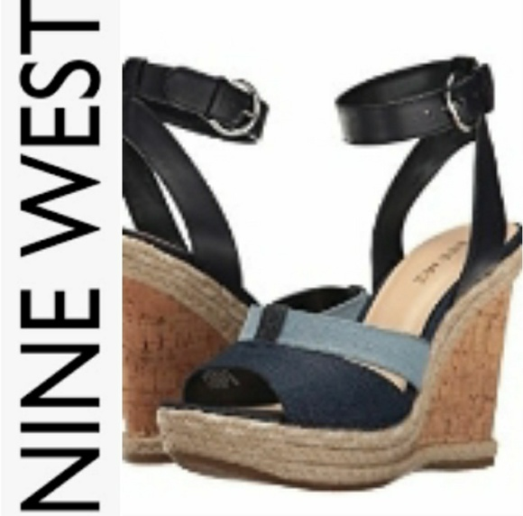 449316f8fa5 Nine West Navy Blue Espadrille Wedges Shoes